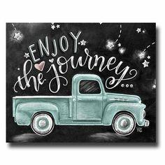 Enjoy The Journey Chalkboard Art Chalk Art Enjoy The Ride Wanderlust Sign Vintage Truck Find Joy In The Journey Inspirational Quote Chalkboard Print, Chalkboard Drawings, Chalkboard Lettering, Chalkboard Designs, Chalkboard Ideas, Fall Chalkboard Art, Chalkboard Pictures, Chalkboard Art Quotes, Blackboard Art