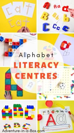 Set up a new literacy centre for kindergarten every two weeks with our selection of alphabet learning activities and printables! Alphabet Activities Kindergarten, Abc Phonics, Kindergarten Activities, Learning Activities, Preschool Literacy, Speech Activities, Preschool Ideas, Literacy Programs, Literacy Stations