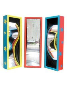 Circus Crazy Mirrors (Three Set) - Keep your guest amused at any age hire these crazy mirrors