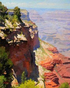 """Grand Canyon"" by Calvin Liang (LPAPA Signature Member - California) Watercolor Landscape, Landscape Art, Landscape Paintings, Watercolor Paintings, Oil Paintings, Watercolors, Western Landscape, Mountain Landscape, Desert Art"