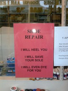 """I think I missed my calling. I could have been a shoe repair person.  I love the """"fixing"""" and the shoes."""