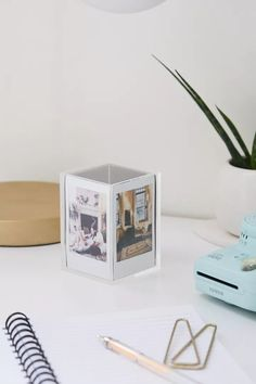 Instax Mini Cube Picture Frame | Urban Outfitters Mini Picture Frames, Hanging Picture Frames, Hanging Pictures, Instax Frame, 4 Image, Diys, Mini Christmas Ornaments, Christmas Gifts, Photo Cubes
