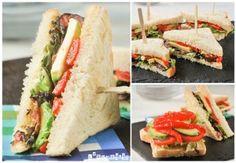 Sandwich con aguacate y bacon