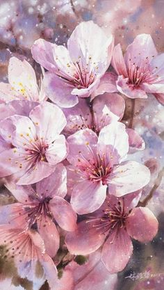 60 Exquisite Urban Watercolor Paintings by Artist Lin Ching Che Frühling Wallpaper, Flower Wallpaper, Cherry Blossom Wallpaper Iphone, Spring Flowers Wallpaper, Watercolor Flowers, Watercolor Art, Cherry Blossom Watercolor, Watercolor Pictures, Cherry Blossoms