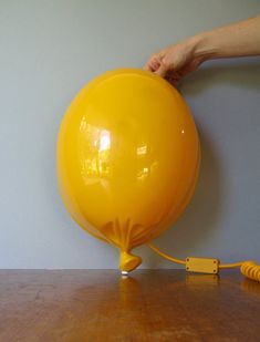 80's Pop Art Yellow Plastic Balloon Lamp by luola on Etsy, $40.00
