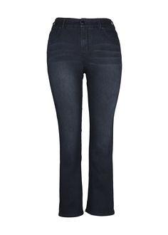 Slim Flare Detail Flap Pocket Jeans at Melissa McCarthy Seven7  Slimming, sexy, incredibly comfortable—this is the jean you need in your closet right now. Detailed with embellished flap pockets at the back, the style is fitted through the knee and opens into a gentle flare, giving you a long, lean shape. Finished with a zip fly and button closure.