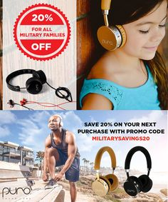 Puro Sound volume-limiting headphones is leading the way in the technology and electronics industry, and they are graciously offering all military families an exclusive 20% OFF military discount!