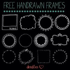 Hand drawn frames for your photos, scrapbooking, blogging, DIY, crafting…