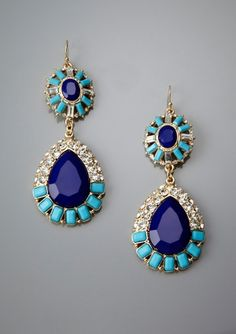 blue teardrop earrings