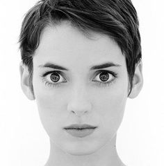 short hair, face, peopl, winona ryder, girl crushes, bright eyes, shorts, beauti, actress