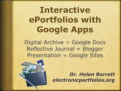Instructions on how to use the different elements of Google Apps to maintain e-portfolios.
