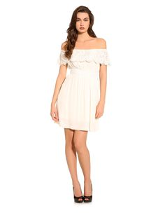 The macramé insert and crochet details give this dress a handmade look you'll love, with the flounces on the straps injecting a shot of energy