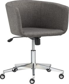 coup office chair  | CB2 | Love this but will it frustrate me if I can't pull my legs up while I work?
