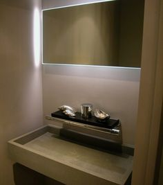 Medio ba os on pinterest bathroom sinks and powder rooms for Medios banos pequenos modernos