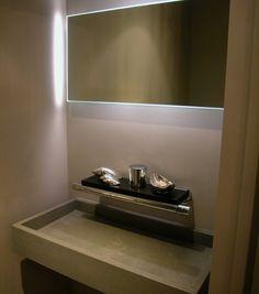 Estilo moderno medio baño