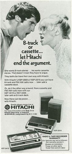 1971 Hitachi ad by rchappo2002, via Flickr
