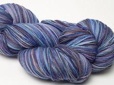 Hand Painted Wisteria Sock Yarn by fiberartoriginals on Etsy, $18.00