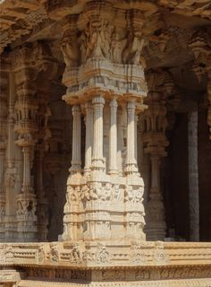Playing pillars, Hampi, Karnataka, India