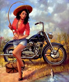 Artist David Uhl - reminiscent of Elvgren pin-up work. Just wow.