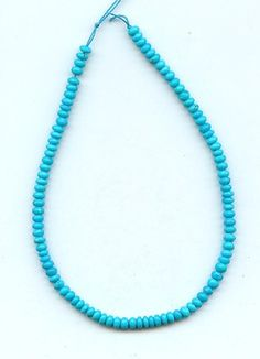 Real Sleeping Beauty Turquoise 4 mm Rondelle Beads