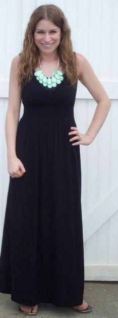 Mint black maxi dress
