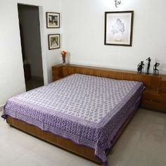 Bed Linen Indian Decor Home Styles Cotton Flat Sheet Queen Block Print: Amazon.co.uk: Kitchen & Home