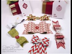 """This is another video from my """"Wow That's Cool"""" Video Series. NOTE:  (This bow making series is in 2 parts, (Part 1 and Part 2).  In this PART 1 video, I will make 4 of the 6 bows using the Stampin' Up! Envelope Punch Board.  On the Part 2 video, I will teach the remainder 2 bows.  link to part 2 https://www.youtube.com/watch?v=ib8dGCXNM5c"""