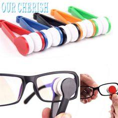 lovely pet Glasses Sunglasses Eyeglass Spectacles Cleaner Cleaning Brush Wiper Wipe Kit oct1014