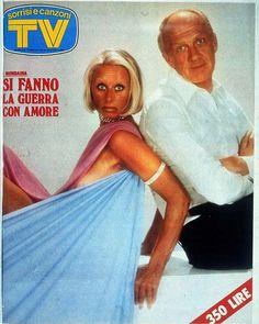 sandra-mondaini-raimondo-vianello-sorrisi-canzoni-1977 Italian Posters, Double Monk Strap, Break Free, Vintage Magazines, Cover Pages, The Past, In This Moment, Memories, Humor
