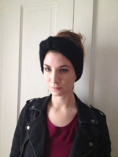 Black Turban Headband by LaceyDaisyKnits on Etsy