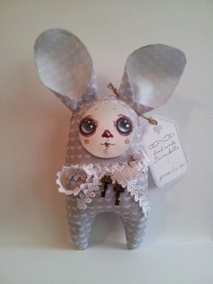 "Hand made Bunndoll ""The Winter Bunny"""