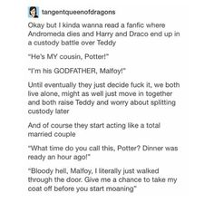 Draco and Harry resorting to domesticity instead. I never knew I needed this in my life until I saw it!