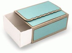 FOLDING SCALLOP FLAP SLIDING BOX by Carina Gardner Design ID #84868 Published: 6/30/2015 3D CRAFTS