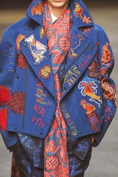 / prints / patterns / textures and details / london fashion week / fall/winter / menswear / Look Fashion, Fashion Details, Fashion Art, Runway Fashion, Trendy Fashion, High Fashion, Fashion Outfits, Womens Fashion, Fashion Design