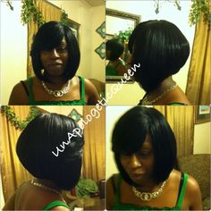 Sew-in bob , full sew-in no hair left out, Razor cut 12inches simplysetaparthair@aol.com