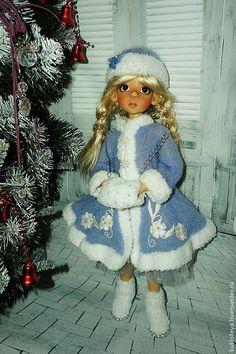 """Одежда для кукол ручной работы. Ярмарка Мастеров - ручная работа. Купить Комплект одежды для куклы """" Снегурочка"""". Handmade. Голубой"""