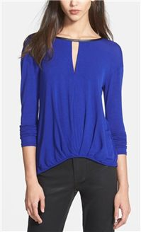 Ella Moss - Icon Long Sleeve Top: For a casual New Year's Eve get together, this top - also available in black - top is just right.