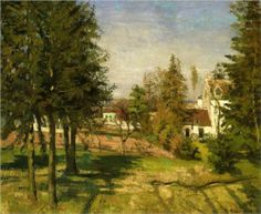 Again, Anais Nin lived here many years - The Pine Trees of Louveciennes - Camille Pissarro