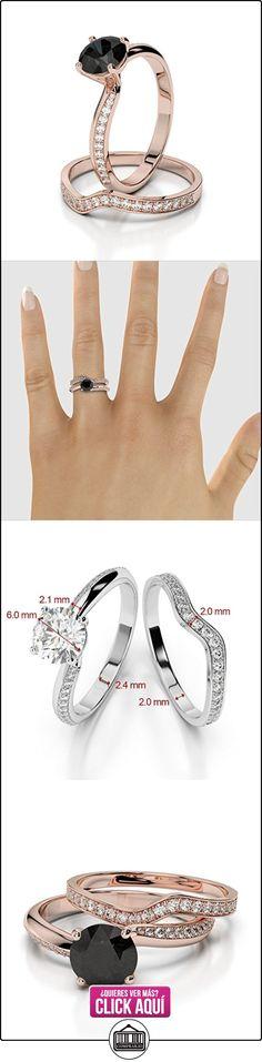 AG & Sons Hombre  750 Gold  oro rosa Round Brilliant Cut Round Brilliant   negro G-H diamante diamanre negro  ✿ Joyas para hombres especiales - lujo ✿ ▬► Ver oferta: https://comprar.io/goto/B01I4Q65YQ