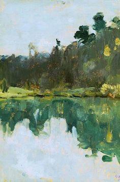 Lakeshore de Isaac Levitan (1860-1900, Lithuania)