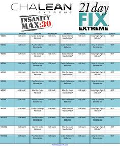 CLX, 21 Day Fix Extreme, Insanity Max 30 Hybrid Schedule | The Fit Housewife