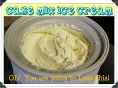 cake mix ice cream!