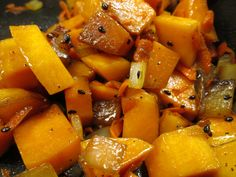 Butternut Squash Saute this was very tasty & different; fairly quick & easy, although took longer than stated 2get tender.