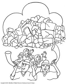 joshua and the battle of jericho coloring page google search