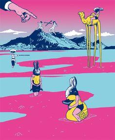 i want my rubber duckie  Ilustraciones de Andrew Flakonkishochki