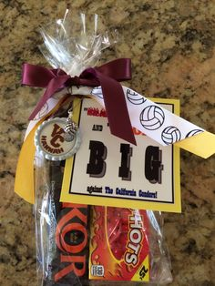 High school volleyball team treat before first game. It includes a ...
