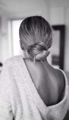 chic low bun and low