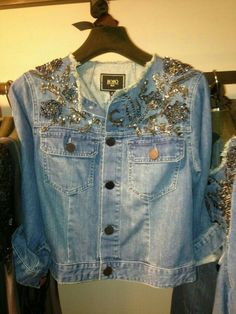 restyle your stash Denim And Lace, Denim Top, Denim Jeans, Jacket Jeans, Love Jeans, Recycled Denim, Embroidered Jacket, Denim Fashion, Diy Clothes