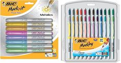Amazon.com : BIC Mark-It Permanent Marker Set: Set includes BIC Mark-It Permanent Markers (36 Ultra Fine Point, Assorted Colors) + Bic Mark-It Metallic Permanent Markers (8 Fine Point, Assorted Colors) : Office Products