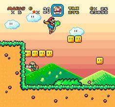 Nintendo Fanart: Super Mario World With Yoshi's Island Art Style Super Mario World, Mundo Super Mario, Video Game Memes, Video Game Art, Super Smash Bros, Super Mario Bros, Hero Manga, Rainbow Bath Bomb, Game Bit